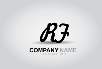 Vector Hand Drawn Letter RF Style Alphabet Font.