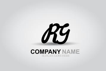 Vector Hand Drawn Letter RG Style Alphabet Font.