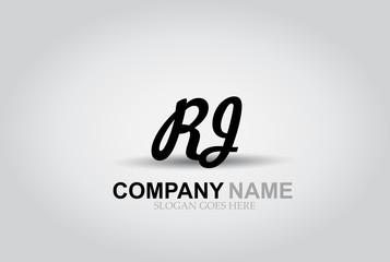 Vector Hand Drawn Letter RJ Style Alphabet Font.