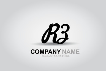 Vector Hand Drawn Letter RZ Style Alphabet Font.