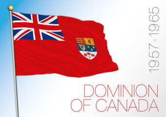 Canada dominion historical flag 1957