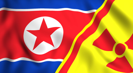 North korea atomic nuclear threat symbol