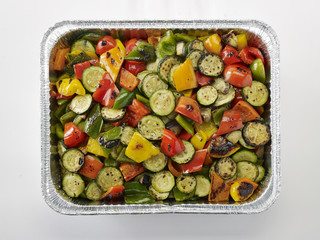 Grilled Vegetables in Pan