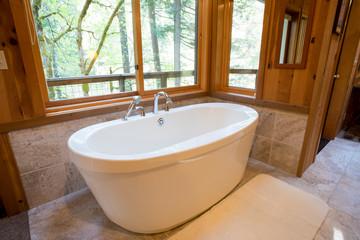 Soaking Bath Tub in Cabin