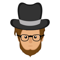Hipster avatar icon