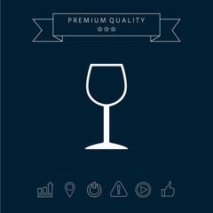 Wineglass symbol icon