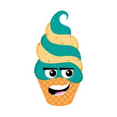 Happy sundae emoticon
