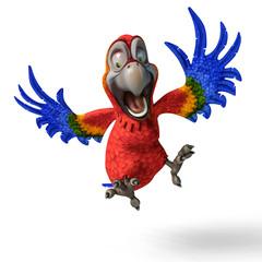 tropical parrot cartoon