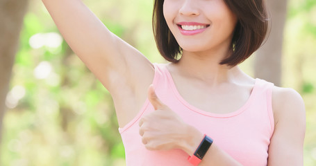 woman with underarm hair removal