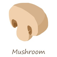 Mushroom icon. Isometric of mushroom vector icon for web design isolated on white background