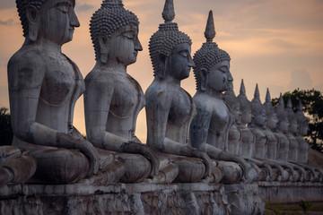 Fototapete - Statue buddha image in Nakorn Si Thammarat, Thailand.