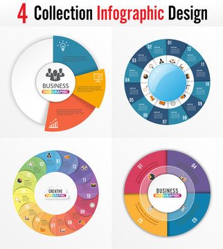 Infographic design vector and marketing icons can be used for workflow layout, diagram, annual report, web design. Business concept with 4 and 5 options, steps or processes.