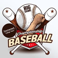 Baseball logo, hand drawn, drawing image vector illustration.