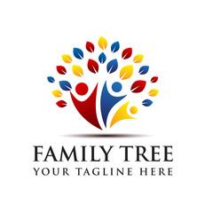 Family Tree Creative Concept Logo Template