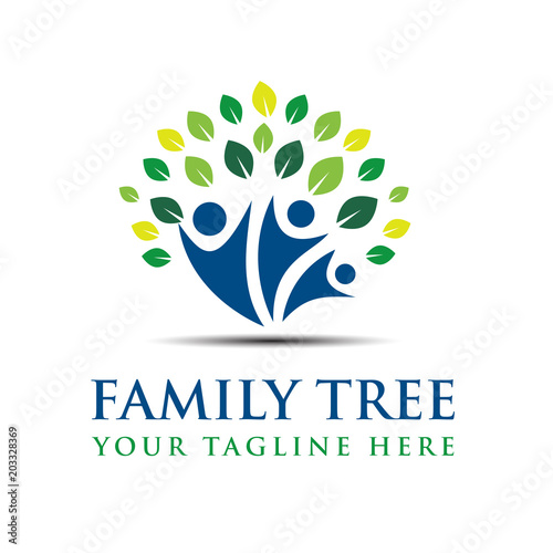 Family Tree Creative Concept Logo Template Stock Photo And Royalty