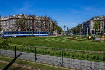 Dans le quartier de Nowa Huta à Cracovie