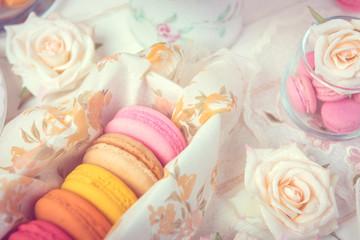 macarons or macaroons dessert sweet beautiful to eat