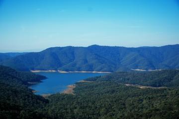 Landscape view on the Lake Eildon in Australia