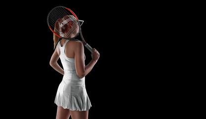 TENNIS isolated on black