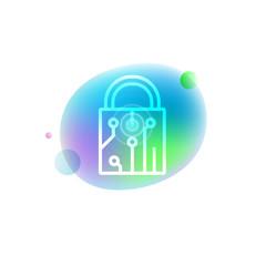 Locks control system icon