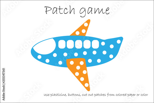 Education Patch game plane for children to develop motor skills, use ...
