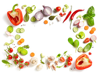 Foto auf Acrylglas Gemuse various fresh vegetables