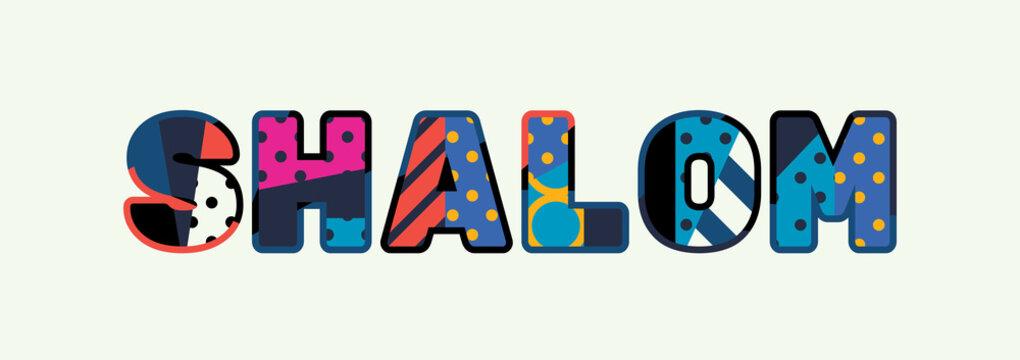 Shalom Concept Word Art Illustration