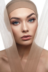 Beauty Woman Face With Even Skin Tone Foundation
