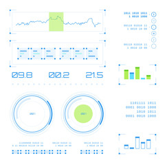 Abstract future, concept vector futuristic blue virtual graphic touch user interface HUD set.