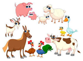 Family farm animals