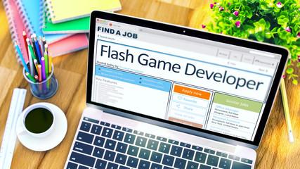 Flash Game Developer Hiring Now. 3D.