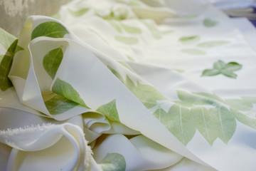 Ecoprint fabric stock photo