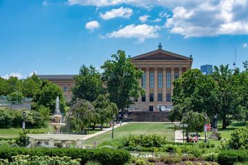 PHILADELPHIA, USA - JUNE19, 2016 - Tourist at Rocky museum of arts flight of steps