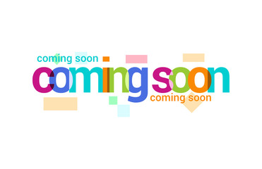 Coming Soon Overlapping vector Letter Design