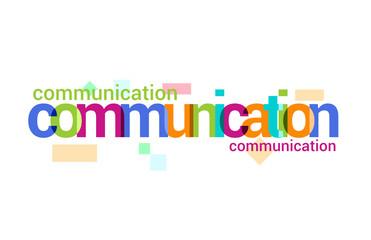 Communication  Overlapping vector Letter Design