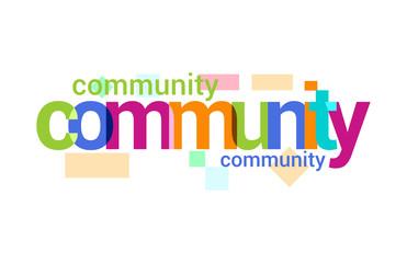 Community Overlapping vector Letter Design