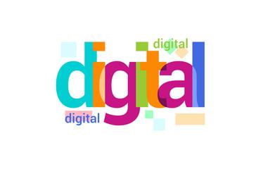Digital Overlapping vector Letter Design