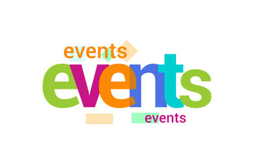 Events Overlapping vector Letter Design