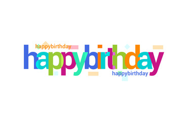 Happy Birthday Overlapping vector Letter Design