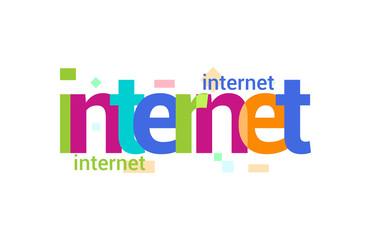 Internet Overlapping vector Letter Design