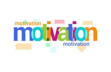 Motivation Overlapping vector Letter Design