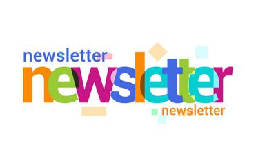 Newsletter, Overlapping vector Letter Design