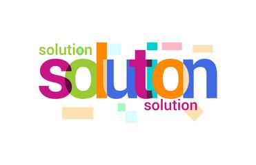 Solution Overlapping vector Letter Design