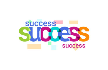 Success Overlapping vector Letter Design