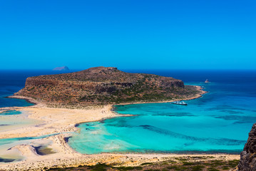 Balos lagoon on Crete island, Greece.