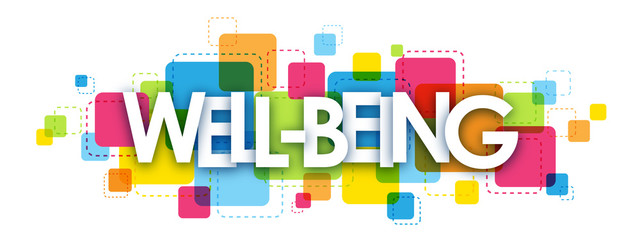 WELL-BEING Vector Letters Collage