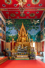 Zentraler buddhistischer Tempel Wat Plai Laem (Innenraum)