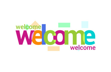 Welcome Overlapping vector Letter Design