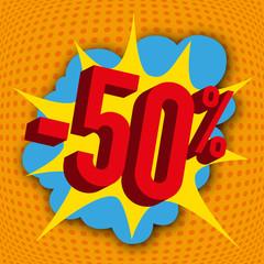 soldes - -50% - promos - affiche - pancarte - pancarte - communication - pub - publicité