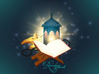 nice and beautiful abstarct or poster for Ramadan Kareem with nice and creative design illustration.